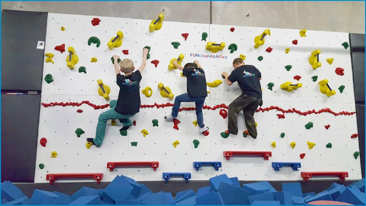 kids wall climbing